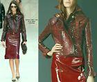 $2,995 RUNWAY Burberry Prorsum 6 8 40 Python Print Leather Jacket Coat Women NEW