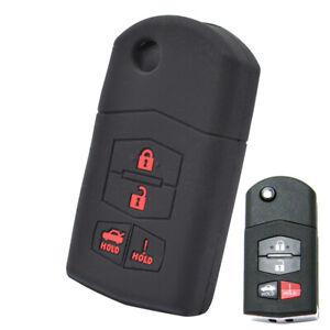 Silicone Key Cover Case For Mazda 3 6 RX-8 MX5 MX-5 Miata MPV Remote Fob Sleeve
