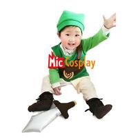 The Legend of Zelda Baby Boy Link Costume Infant Halloween Cosplay