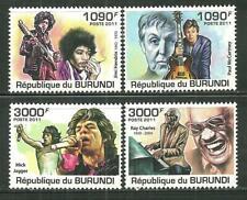 BURUNDI 966-69 MNH SINGERS SCV 12.50