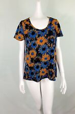 LULAROE Classic T Shirt Women Small Flowy Black Blue Burnt Orange Swoop Neck NWT