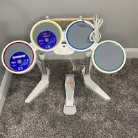Nintendo Wii Rock Band Wired USB Drum Set with Pedal Sticks W/Rockband Games