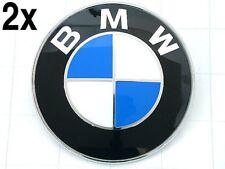 BMW (1987+) Hood + Trunk EMBLEM set (x2) engine lid decklid roundel logo