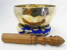 "5"" Energetic Throat Chakra Healing Tibetan Singing Bowl Made ,Handmade Nepal"