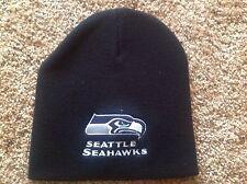 Seattle Seahawks Black NFL Beanie Hat