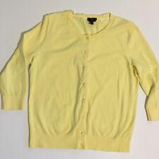 Talbots Petites Large Yellow Pima CottonCardigan Button Front Sweater