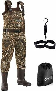OXYVAN Neoprene Chest Waders with Boots Realtree Camo Hunting Fishing Waders
