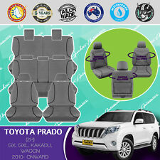 FOR TOYOTA PRADO 2010-CURRENT CANVAS WATERPROOF TAILOR MADE GREY CAR SEAT COVERS