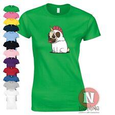 Pug Unicorn t-shirt women's fitted tee cute pugicorn dog doggie doggo teeshirt