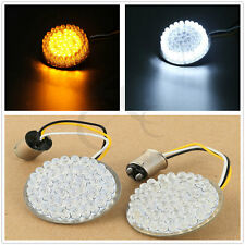 """2"""" Bullet Style Turn Signal White/Amber LED Inserts For Harley Touring Sportster"""