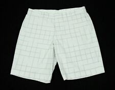 Nike Golf Dri-Fit White Striped Print Modern Fit Cotton Shorts Mens 36