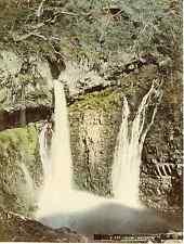 Japon, Urami, Waterfall Vintage albumen print, Japan Tirage albuminé aquar