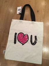 Reusable Shopping bag I Love You On Front BNWT