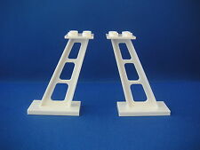 Lego 2 piliers blancs espace Neufs White inclined stanchions 2x4x5 NEW REF 4746