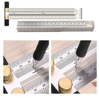 2PCS 7 '' 11 '' Scale Lineal T Typ Lochlineal Holzbearbeitung Scribing Mark Line