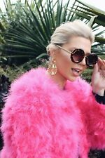 NEW OSTRICH FEATHER JACKET IN PINK - AVAILABLE IN MEDIUM AND LARGE - RRP $280