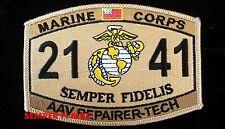 US MARINES AAV REPAIRER-TECH PATCH 2141  AMPHIBIOUS ASSAULT VEHICLE TECHNICIAN
