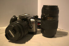 Canon T2 film camera with 28-80 & 70-300 lens