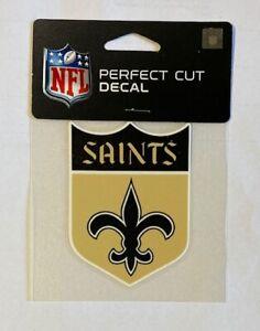 """New Orleans Saints 4"""" x 4"""" Retro Logo Truck Car Auto Window Die Cut Decal Color"""
