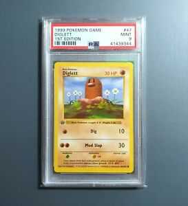 Pokemon TCG - PSA 9 1st Edition Shadowless Diglett - Base set 47/102