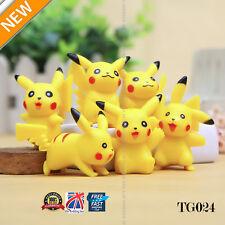 UK 6pcs Pokemon Pikachu Monster Action Figures Kids Children Baby Doll Toy TG024