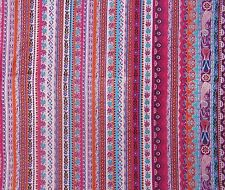Light Weight Multicolor Indian Printed Crafting Fabric Material Sewing By 1 Yd