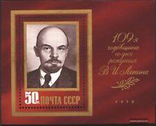 Unión Soviética Bloque 138 (edición completa) nuevo 1979 109. cumpleaños por Len