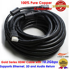 66FT 20M HDMI Cable v1.4 3D High Speed Audio Ethernet HEC Full HD 1080p DVD HDTV