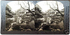 Keystone Stereoview of Maids at a Japanese Garden in JAPAN from 1930's T400 Set