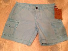 True Religion Womens Shorts BOYFRIEND CARGO Marina Blue Size 25 NEW
