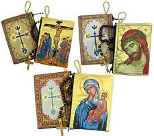 LOT Humility Christ Jesus Crucifixion Icon Madonna & Child Rosary Pouch Case WOW
