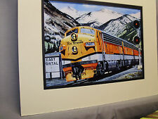 Rio Grande Diesel at James Peak by artist Railroad Archives Museum  hh