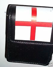 Real Leather cigarette Pouch/Case England Flag