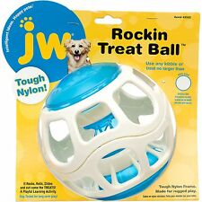 Dog Puppy Activity Play Toy - Tough Durable Nylon - JW Rockin Treat Ball