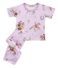 Girls Baby/Toddler Pink Horse Printed Pajama Set Sleepwear, XS (2-3 y/o)