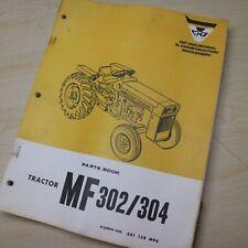 Mf Massey Ferguson 302 304 Tractor Parts Manual Book Catalog Farm List Spare