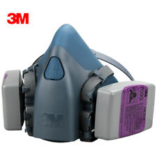3M 7502 Half Facepiece Respirator W/ 2 Each 7093 P1OO Particulat Filter, MEDIUM