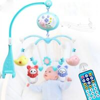 Song Bed Bell Kid Crib Musical Mobile Cot Night Light Music Box Baby Rattles Toy