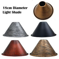 Vintage Retro Style Metal Ceiling Pendant Light Lamp Shade Lampshades Shades