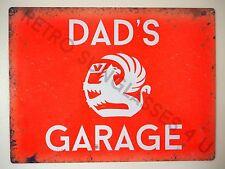 VAUXHALL DAD'S GARAGE, LARGE TIN SIGN, CAVALIER, CRESTA, VISCOUNT CHEVETTE GIFT