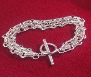 Silver Chain Link Bracelet.