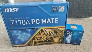 MSI Z170 PC Mate + Intel Pentium G4400