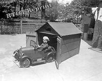 Photograph Vintage Toy Pedal Car & It's Boy Driver  Year 1925  8x10