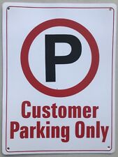 Customer Parking Only Sign Safety Thick Sturdy Plastic Plate 220 x 300 mm
