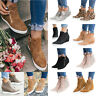 Womens Casual Mid Heel Ankle Boots Hidden Wedge Sneakers Trainers Flat Shoes US