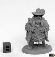 Reaper Miniatures - 44019 - Townsfolk  Reeve Irremborg Planomap - Bones Black