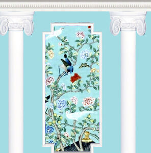 Dolls House Wallpaper 1/12th  scale Blue and White Quality Paper #319P