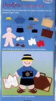 TRAVELING TRAVIS with Suitcase Camera Map - EK Success Paperkins Paper Dolls