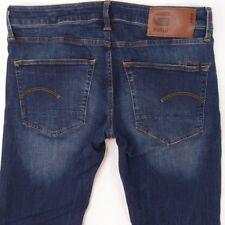 Mens G-Star 3301 STRAIGHT Stretch Straight Blue Jeans W33 L34