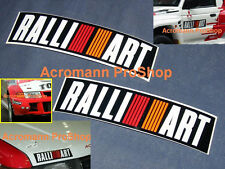 "2x 8.5"" 21.6cm RALLIART decal sticker Mitsubishi Evo Eclipse Pajero Lancer rally"